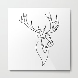 stag one line Metal Print