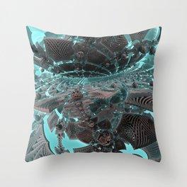 Fractal Art - Splitting Horizon Throw Pillow