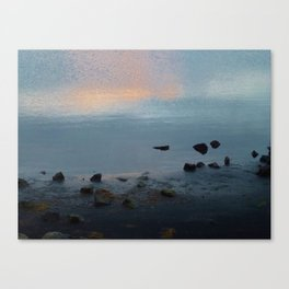 Sky Sea Sand Stone Canvas Print