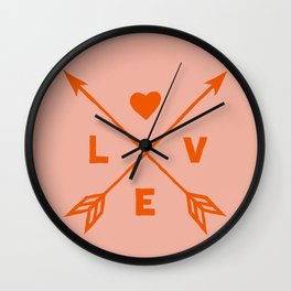 Abstraction_LOVE_HEART_VALENTINE_Minimalism_001 Wall Clock