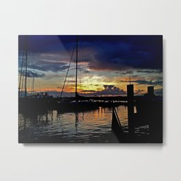 A New England Sunset. Metal Print