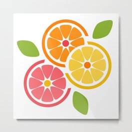 Summertime Citrus Metal Print