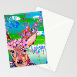Deer Print Stationery Cards