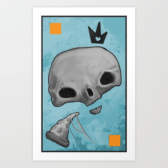 pizza skull king Art Print