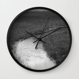 lake and rivulet Wall Clock