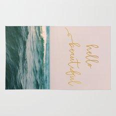 Hello Beautiful (Pink Waves) Rug