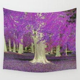 Purple Trees Wall Tapestry