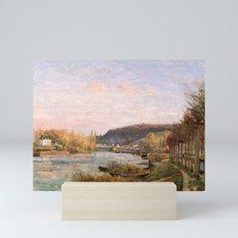 """Camille Pissarro """"The Seine at Bougival"""" Mini Art Print"""