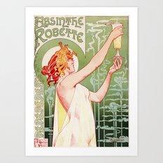 Absinthe Robette Vintage Lithograph  Art Print