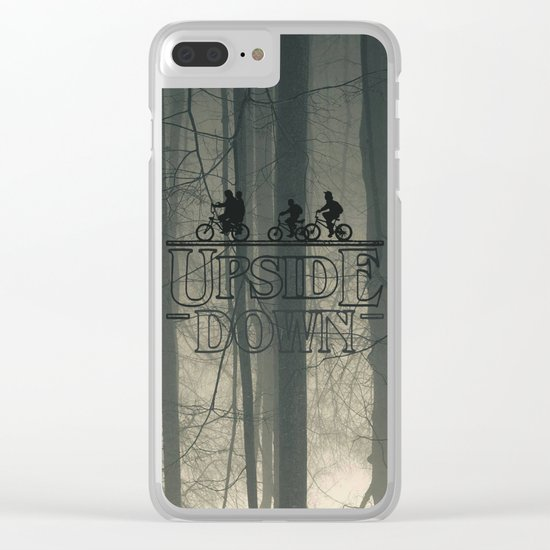 Upside down world Clear iPhone Case