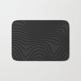 Organic Abstract 02 BLACK Bath Mat