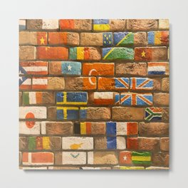 flags Wall Metal Print