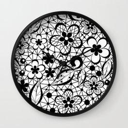 Black lace Wall Clock