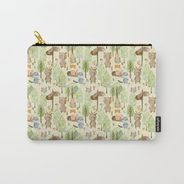 Follow Your Dreams - Little Wild Animals In Forest Carry-All Pouch