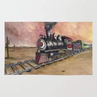 southwest Area & Throw Rugs featuring Southwest Journey by Jeff Moser Watercolorist