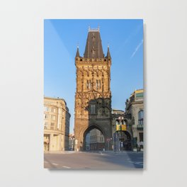 The Powder Tower - Prague, Czech Republic Metal Print