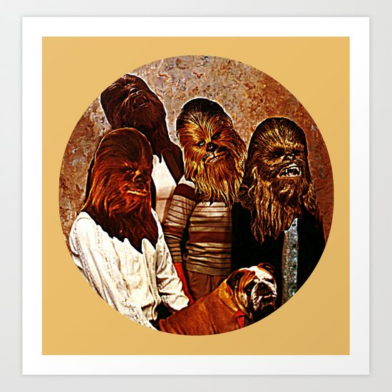 Wookiee Family Portrait  |  Star Wars Art Print