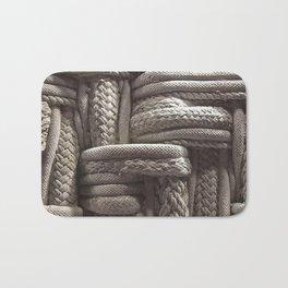 Rope, Texture, Cream, Weaved Bath Mat