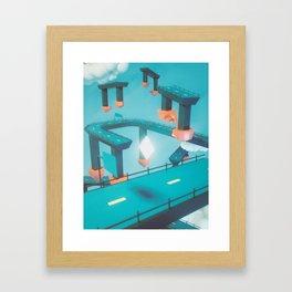 Bridge Over Untroubled Skies - 01 Framed Art Print