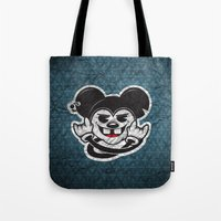 rat Tote Bags featuring Rat by Shunshoo