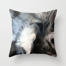 painting with Smoke - peacock feather Throw Pillow