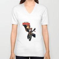 dragon V-neck T-shirts featuring Dragon by nurfiestore2u