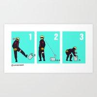 Boruto + trash can Art Print