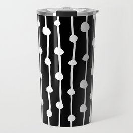 White & Black Travel Mug