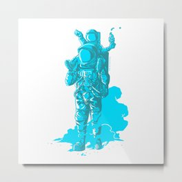 Onwards, Space Dad! Metal Print