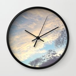 Sunset cloudy sky Wall Clock