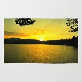 Sunset on Arrowhead Lake Rug
