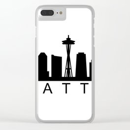 Seattle skyline Clear iPhone Case