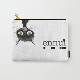 Ennui is one complicated emotion of a cat! Carry-All Pouch