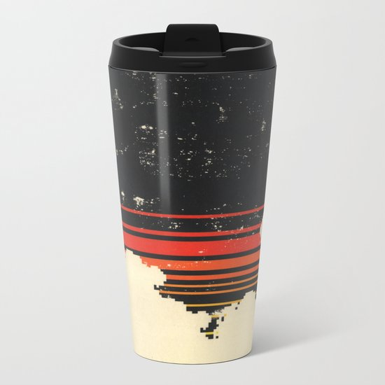 Clouds in the Sky at Night Metal Travel Mug