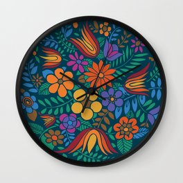 Another Floral Retro Wall Clock