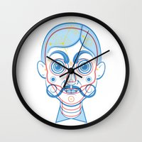 rare Wall Clocks featuring A Rare Boy by Ukko