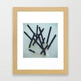 #Graphite #Cream - 20160512 Framed Art Print