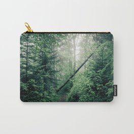 Fallen Tree in Misty Forest Carry-All Pouch
