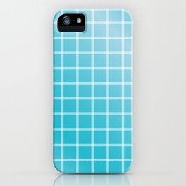 Ocean blue and white line art iPhone Case