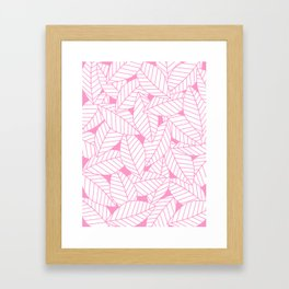 Leaves in Flamingo Framed Art Print