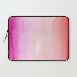 watercolor gradient in pink and red Laptop Sleeve