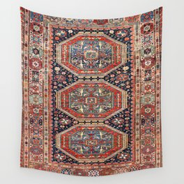 Kuba Sumakh Antique East Caucasus Rug Print Wall Tapestry