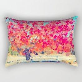 Orange Tree Watercolor digital Rectangular Pillow