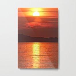 Sunset in Corfu Metal Print