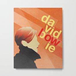 Bowie in Orange Metal Print