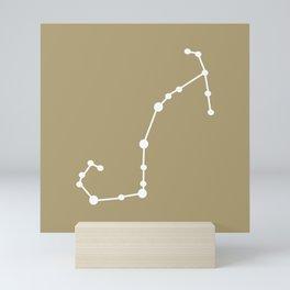 Scorpio (White & Sand) Mini Art Print