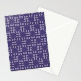 Testi-cute Purple Design Stationery Cards