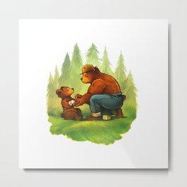 Bear-Man Metal Print