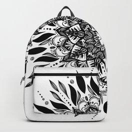 MANDALA black an white 1 Backpack