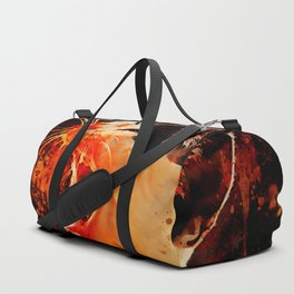 evil cat mouth wide open splatter watercolor Duffle Bag